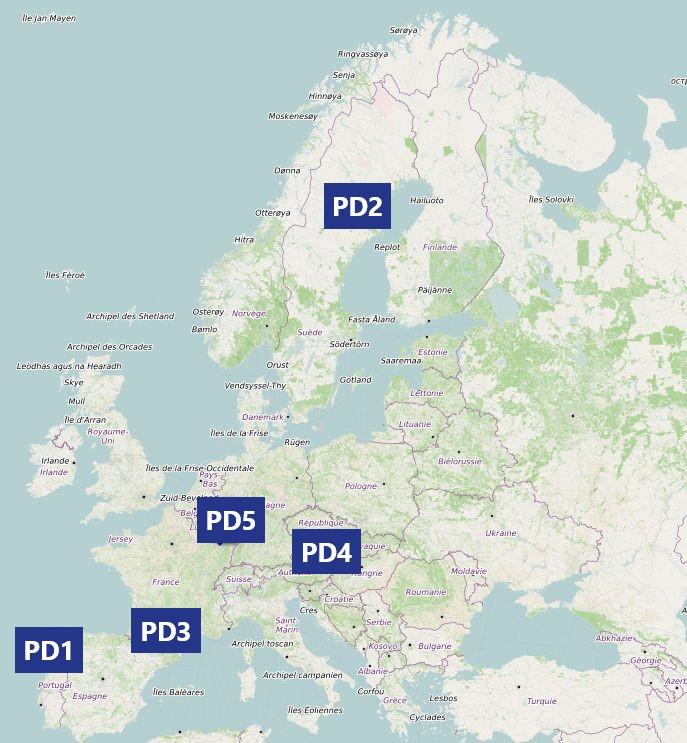 map of pilot demonstrations